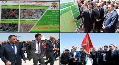مهيدية وبعيوي وخلوق يشرفون بمدينة ميضار على إعطاء انطلاقة مشاريع تنمية الإقليم بقيمة 5 مليار
