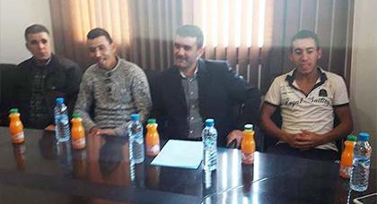 جماعة تزغين : رئيس المجلس الجماعي لتزغين يعقد لقاء تواصلي مع النادي الرياضي أمل تزغين