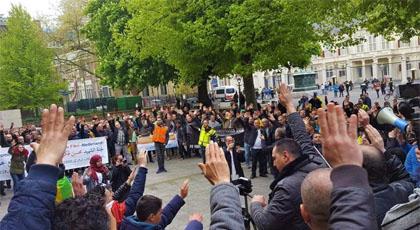 مسيرة إحتجاجية حاشدة لأفراد الجالية الريفية المقيمة بالخارج بمدينة دنهاخ الهولندية