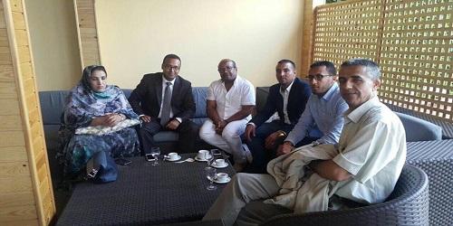 في أول خطوة بعد إنتخاب الفتاحي أمينا عام للعهد.. أعضاء المكتب السياسي يجتمعون مع الشباب الصحراويين