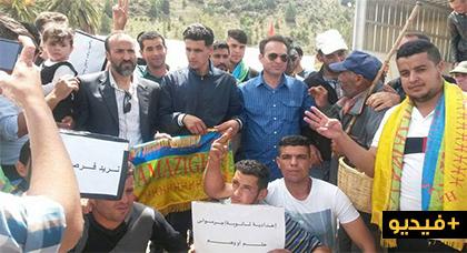 ساكنة آيت توزين تخرج في مسيرة احتجاجية ضد التهميش والاقصاء