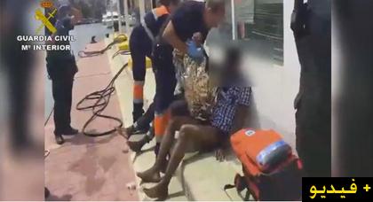 إنقاذ أكثر من 24 مهاجرا سريا  قفزوا من داخل قارب مطاطي في محاولة منهم  لدخول مليلية سباحةً