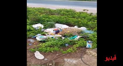 """ساكنة """"ترقاع"""" تشتكي انتشار الأزبال بسبب انعدام حاويات مكّب النفايات بحيّها وتدعو البلدية للتدخل"""