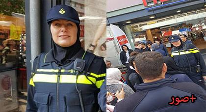 الحجاب الذي منعوه على الشرطيات في هولندا ظهر يغطي شعر شرطية هولندية وسط حفاوة المسلمين
