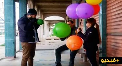 مقلب الكاميرا الخفية بالريفية.. نفخ البالونات