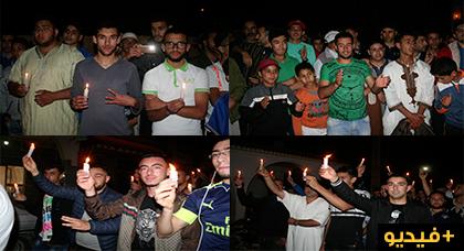 مسيرة إحتجاجية حاشدة بايت سعيد للمطالبة باطلاق سراح المعتقلين