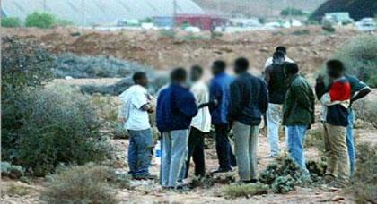 ايقاف 33 مهاجرا سريا من دول جنوب الصحراء بشاطئ الشعابي بدار الكبداني