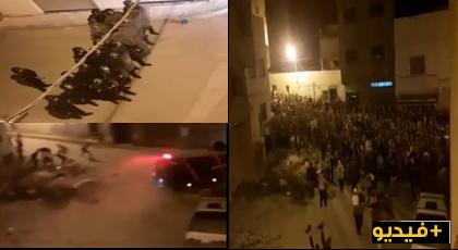 شاهدوا لحظة إندلاع مواجهات بين المحتجين والأمن بالحسيمة