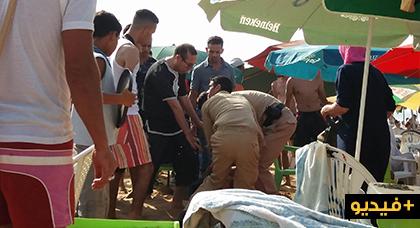 حملة تطهيرية تصادر عددا من النارجيلات بحوزة مصطافين بأرجاء شاطئ أركمان