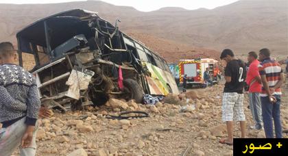 فاجعة.. مصرع 5 أشخاص وجرح 21 آخرين في حادث تصادم قوي بين شاحنة وحافلة لنقل الركاب