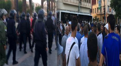 """القوات العمومية تمنع إحتجاجات تنسيقية """"مناهضة الحكرة"""" تضامنا مع معتقلي الحراك"""