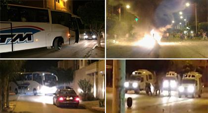 بسبب المواجهات.. إغلاق الشارع الرئيسي بالعروي واختناق مروري وسط الأحياء والأزقة