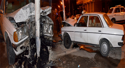 الدريوش: إصابة سائق سيارة أجرة بعد اصطدامه بعمود للإنارة العمومية