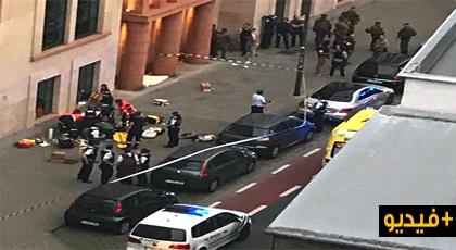 شخص يهاجم الشرطة البلجيكية بسكين ويصيب جنديين ويلقي حتفه بطلاقات نارية بعد ترديده التكبير