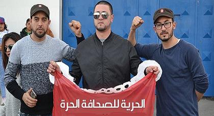 من المعتقلون من اليمين إلى اليسار: محمد الأصريحي، العالي حود، جواد الصابري