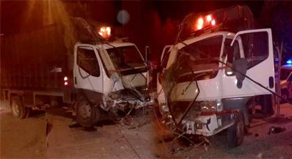 شاحنة مسروقة من الناظور تستنفر الأجهزة الأمنية بعد حادثة سير خطيرة بهذه المدينة
