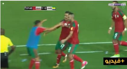 أهداف المنتخب المغربي ضد الغابون