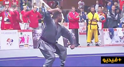 """إبن الناظور """"محمد أجباح"""" يحصل على مركز متقدم في البطولة العالمية للكونغ فو بالصين الشعبية"""
