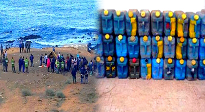 الدريوش.. درك تمسمان يحجز كمية مهمة من البنزين المهرب كانت متجهة صوب قوارب الهجرة السرية