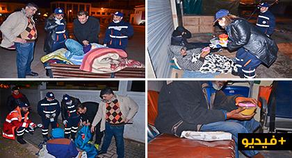 فعاليات مدنية تنظم حملة لمساعدة المتشردين بشوارع مدينة الناظور