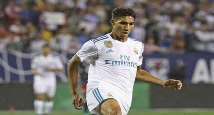 """هكذا علق الدولي المغربي """"أشرف حكيمي"""" على هدفه مع فريق ريال مدريد"""