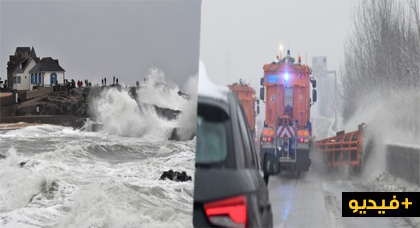 """بالفيديو.. الثلوج تحتجز 4 آلاف شخص بفرنسا وعاصفة """"كارمن"""" تشتد وتتسبب في مقتل مسن"""