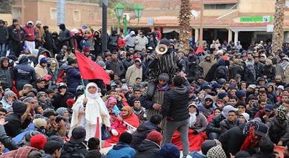 """نشطاء """"حراك الفحم"""" بجرادة يتجهون نحو فرز قيادة من أجل التحاور مع ممثلي السلطة"""