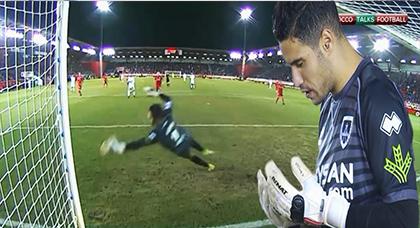 تصديات الحارس منير المحمدي أمام ريال مدريد في كأس ملك إسبانيا