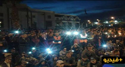 بالفيديو.. جرادة تواصل برنامجها الإحتجاجي بمسيرة حاشدة بالشموع تطالب ببديل إقتصادي للمدينة