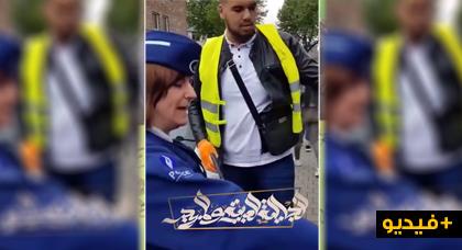 """شاهدوا ما فعله مهاجر ببلجيكا  خيرته الشرطة بين جمع """"بقايا سيجارته من الأرض"""" أو تغريمه 55 يورو"""