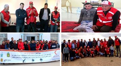 الدريوش.. الهلال الأحمر يواصل قافلة الدورة التدريبية في الإسعافات الأولية ويحط الرحال بـ 5 جماعات بالإقليم