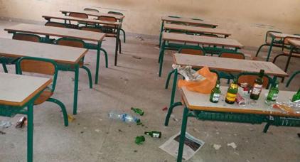 خطير.. البيرة و الماحيا في قسم مدرسة عمومية مغربية