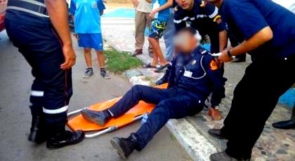 خطير.. مجهول يعتدي على شرطي مرور بالسلاح الأبيض ويطعنه في الظهر