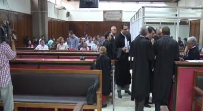 احتجاج داخل المحكمة أثناء الاستماع لعضو فرقة أكراف الغنائية المعتقل على خلفية حراك الريف