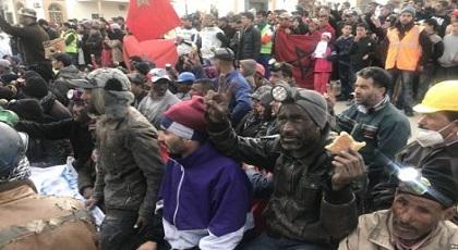 """محتجو """"حراك الفحم"""" يكشفون سبب تراجعهم عن مسيرة الرباط"""
