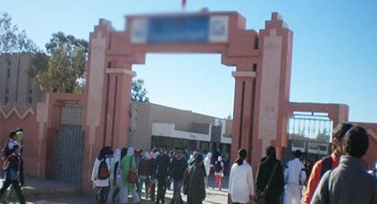 اعتقال تلميذ رمى أستاذة الفلسفة بحجر كبير وتسبب لها في جرح غائر