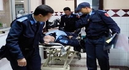 شرطي يطعن نفسه بسكين محاولا الانتحار داخل كوميسارية