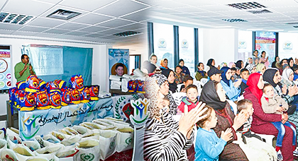 مؤسسة بسمة للأعمال الخيرية وجمعية المغاربة المقيمين بالاتحاد الأوروبي ينظمان حفل ترفيهي للأيتام
