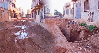 كارثة.. توقف الأشغال بتعاونية الفتح بقرية أركمان والساكنة تهدد بالإحتجاج