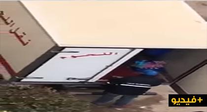 """في عز حملة """"خليه يريب"""".. شركة """"الحليب"""" تستعين بشاحنة البلدية لنقل اللحوم لتوزيع منتوجها"""