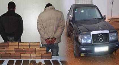 الدريوش.. الدرك الملكي يعتقل شخصين أحدهما قاصر ويحجز سيارة وكمية مهمة من المخدرات
