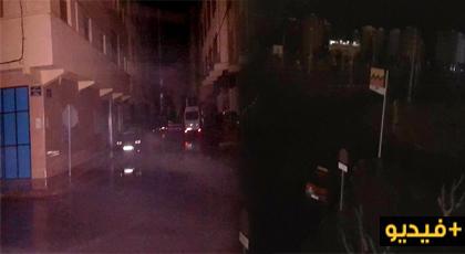 شاهدوا.. سوء الأحوال الجوية تتسبب في انقطاع الكهرباء عن الناظور والمدن المجاورة في أولى ليالي رمضان