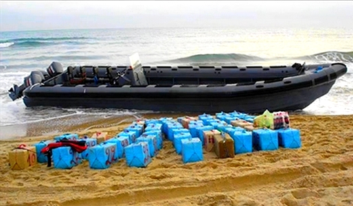 البحرية الملكية تحجز  طن من الحشيش على متن زورق بسواحل الحسيمة