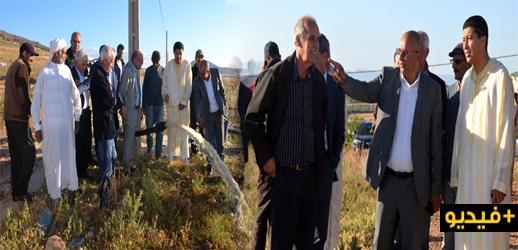 بعوي والمومني يطلقان مشاريع فلاحية مهمة لفائدة ساكنة الشريط الحدودي