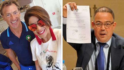 """صراع قوي بين رئيس جامعة الكرة المغربية والمدرب """"رونار"""" بسبب عارضة أزياء"""