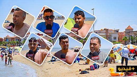 الناظوريون يفتتحون الشاطئ الإصطناعي بكورنيش الناظور