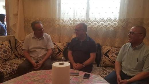 القيادي في حزب الإستقلال مضيان في بيت ناصر الزفزافي