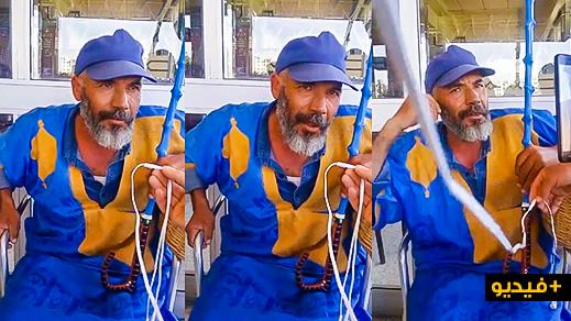 """مثير بالفيديو..  سفير حراك الريف """"عيزي أحمد"""" يوضح أسباب انسحابه من مسيرة البيضاء"""