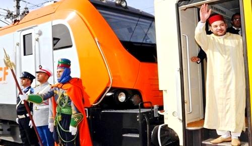 """الملك يطلق اسم """"البُراق"""" على القطار فائق السرعة الرابط بين طنجة والبيضاء وهذا موعد انطلاقه"""