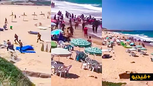 شاهدوا.. مركب يقل مهاجرين سريين يخطئ الوجهة ويرسو في شاطئ بطنجة